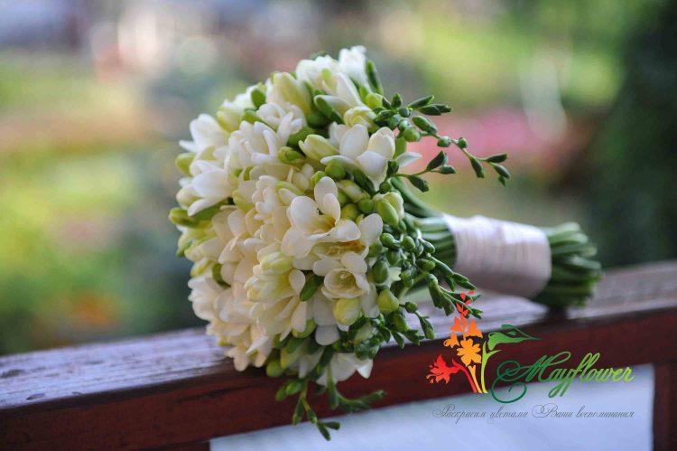 Свадебные букеты из фрезий фото