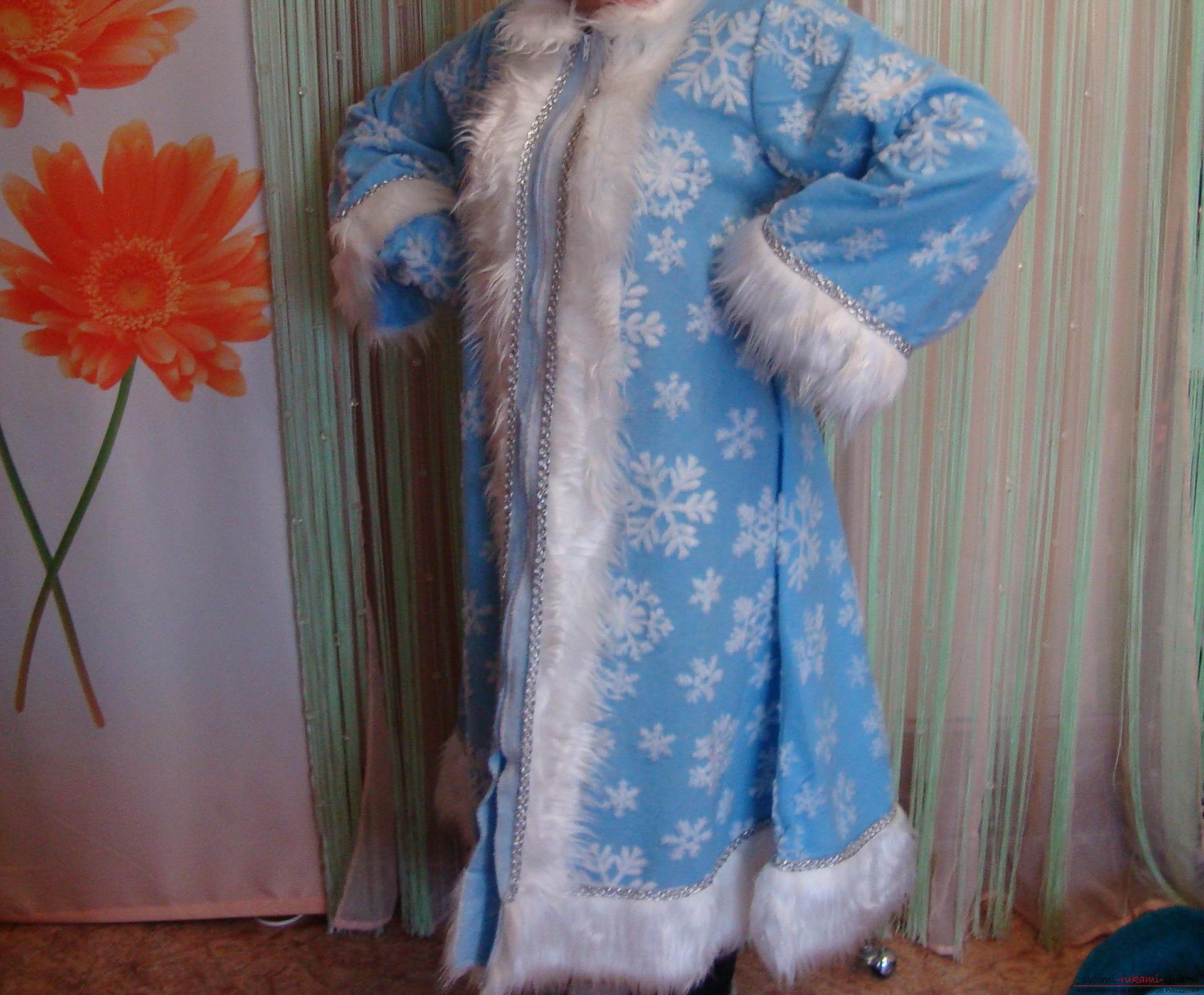 Как сшить костюм снегурочки своими руками видео