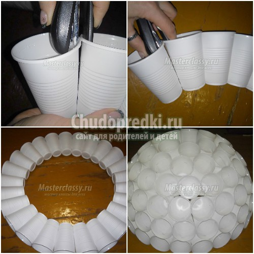 small6222e7a9 Снеговик из пластиковых стаканчиков своими руками: пошагово с фото
